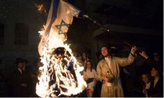 A purim celebration, another form of indoctrination - teaching children to fight the draft