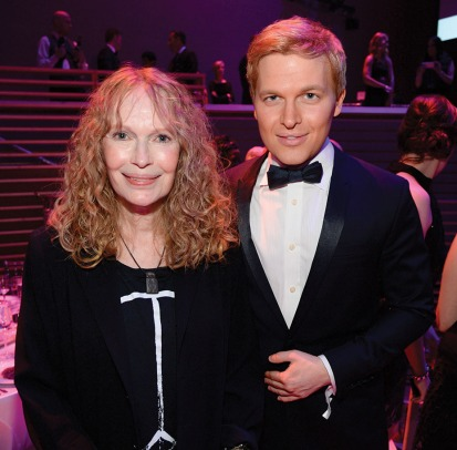 NEW YORK, NY - APRIL 21: Mia Farrow and Ronan Farrow attend TIME 100 Gala, TIME's 100 Most Influential People In The World at Jazz at Lincoln Center on April 21, 2015 in New York City. (Photo by Kevin Mazur/Getty Images for TIME)