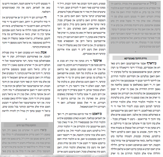 Speech in Yiddish.n