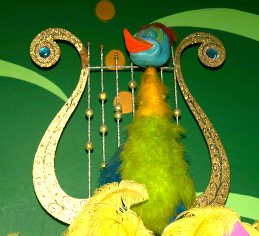 Small World lyre & bird