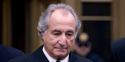 UNITED STATES - MARCH 10: Bernard Madoff, founder of Bernard L. Madoff Investment Securities LLC, leaves federal court in New York, U.S., on Tuesday, March 10, 2009. Madoff, 70, will plead guilty on March 12 that he directed a fraud that totaled as much as $64.8 billion, the largest Ponzi scheme in U.S. history, his lawyer Ira Sorkin said in a court hearing today. Madoff, free on $10 million bail, faces life imprisonment. (Photo by Jin Lee/Bloomberg via Getty Images)